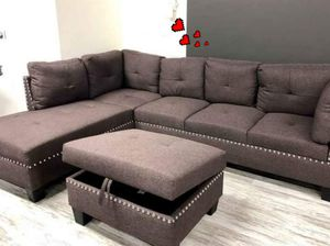 ♻️New♻️Global Brown Sectional with Ottoman for Sale in Jessup, MD