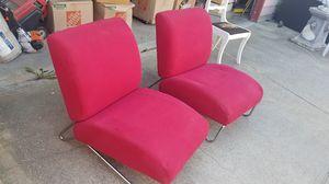 Mid century modern tubular chrome framed chairs for Sale in Brooklyn, OH
