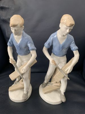 Boy Figurine Sawing Wood - Lladro Type Marked S GCR for Sale in Torrance, CA