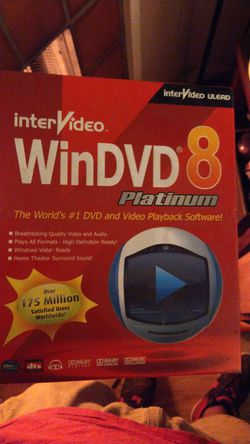 Brand new unopened win dvd 8 platinum from intetvideo for Sale in San Mateo,  CA