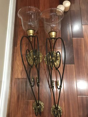 2 Large wall candle stands for Sale in Ashburn, VA