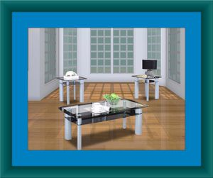 3pc Glass coffee table for Sale in Ashburn, VA