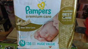 Pampers Premium Care Diapers ,Newborn,136 counts for Sale in Mesa, AZ