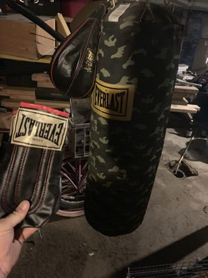 Everlast heavy bag, speed bag and heavy bag gloves $50 for Sale in Pittsburgh, PA