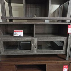 NEW,EXTRA LARGE TV STAND - DISTRESSED GREY, SKU#TC161566. for Sale in Midway City,  CA