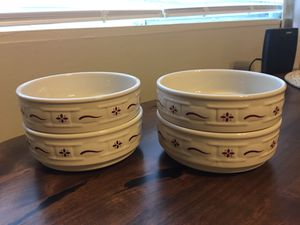 Set of 4 Longaberger Traditional Red Cereal Bowls for Sale in Washington, DC