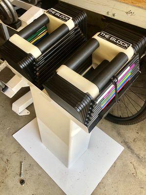 5-45 power block dumbbells Powerblocks for Sale in Saint Charles, MO