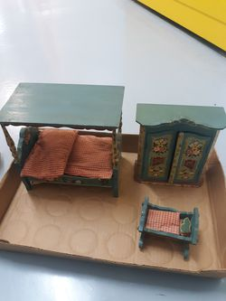 Antique Wooden German dollhouse furniture by Dora Kuhn for Sale in Phoenix,  AZ