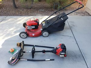 TROY-BILT Lawn Mower & 2-in-1 Weed Eater/Edger for Sale in North Las Vegas, NV