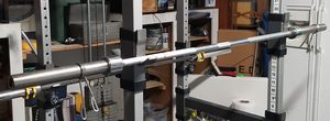 OLYMPIC WEIGHT BARBELL WITH SPRING COLLARS for Sale in Riverside, CA