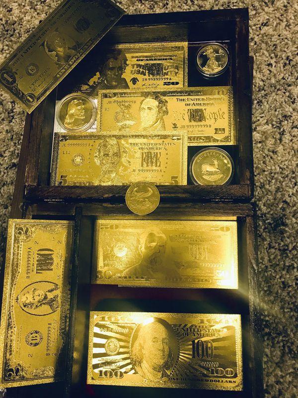 Gold 100 to 1 dollars..24 k good