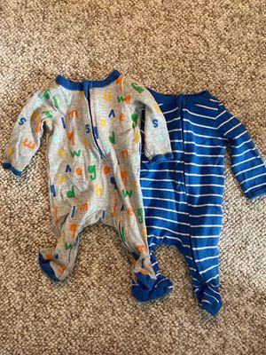 Newborn footed baby onesies / pajamas for Sale in San Diego, CA