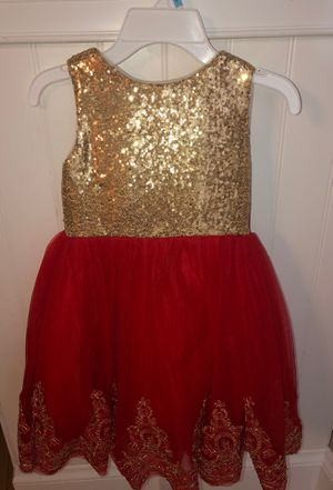 Flower Girl Dress-Gold and Red- I have Two Size 5 for Sale in Lynn, MA