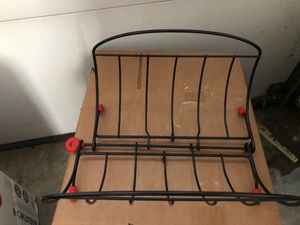 New fold black extended metal magazine rack for Sale in Pico Rivera, CA