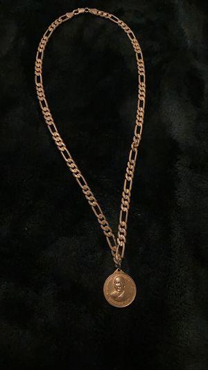 18k Gold Figaro chain w/ Buddha pendant !!! for Sale in Stockton, CA