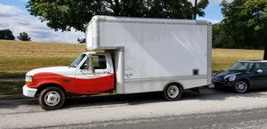 ford box truck 14 ft all aluminum box trailer hitch runs good for Sale in Germantown, MD