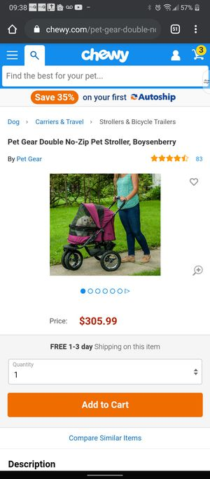 Deluxe pet dog or cat stroller carrier 150 obo for Sale in Erial, NJ