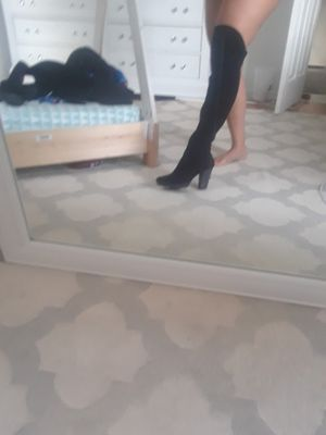 Nine west thigh high suede boots for Sale in Chicago, IL