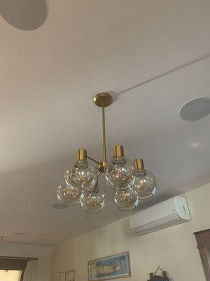 Gold Modern Chandelier for Sale in Bellmore, NY