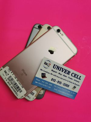 IPHONE 6 S unlocked for any carrier clean with warranty for Sale in Tampa, FL