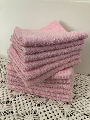 Pink wash cloths, Qty 12 for Sale in Riverside, CA