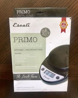 Digital Kitchen Food Scale - Escali Primo for Sale in Cumming, GA