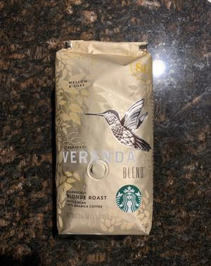 Veranda Blend 1 lb 16 oz Starbucks blonde roast whole bean coffee 1lb 16oz for Sale in Fresno, CA