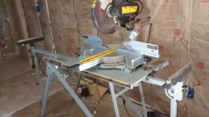 """12"""" duel bevel slide miter saw w/ stand for Sale in Richland, WA"""