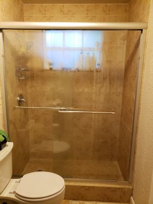 """Glass shower door with frame 58"""" x 70"""" for Sale in Miami, FL"""