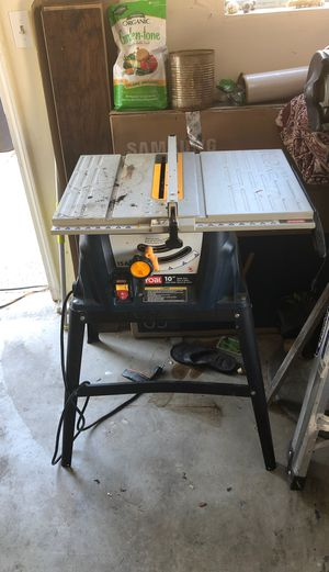"Ryobi 10"" table saw for Sale in Tracy, CA"