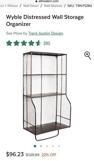 Wire wall storage organizer for Sale in Alexandria, VA