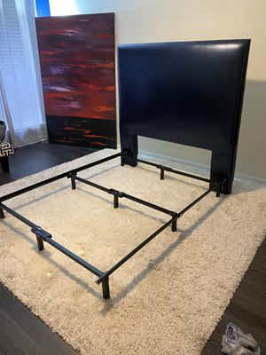 Full Size Headboard & Quality Bed Rail for $50 (for both) for Sale in Atlanta, GA