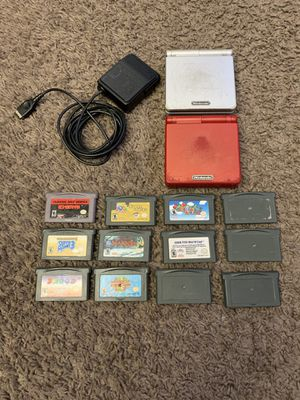 Nintendo Gameboy Advance SP with 12 GAMES for Sale in Costa Mesa, CA