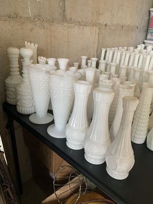 Assorted Milk Glass Bud Vases and More for Sale in Portland, OR