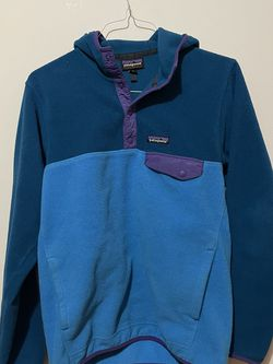 Vintage Patagonia Synchilla 90's Snap Button Fleece Hooded Small for Sale in Brooklyn,  NY