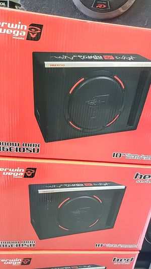 Cerwin vega 12 inch subwoofer built amplifier with box for Sale in Chula Vista, CA