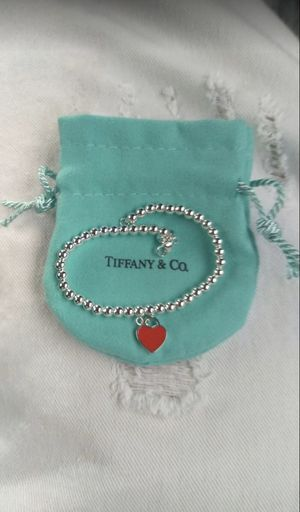 Tiffany & Co bracelet red heart for Sale in Stockton, CA