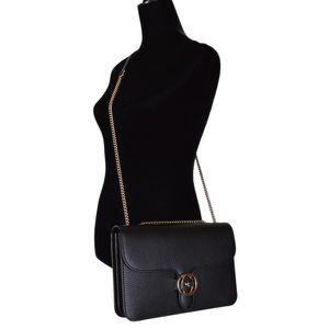 Black Gucci interlocking crossbody or shoulder bag for Sale in Bloomfield, NJ