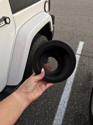 Jeep Wrangler JK gas cap insert for Sale in Richmond, VA