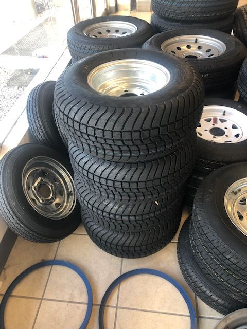 Trailer Tires - Replacement 10 Inch Wheel and Tire for Pontoon Boat Trailer - We carry all trailer tires - we install for free - two year warranty