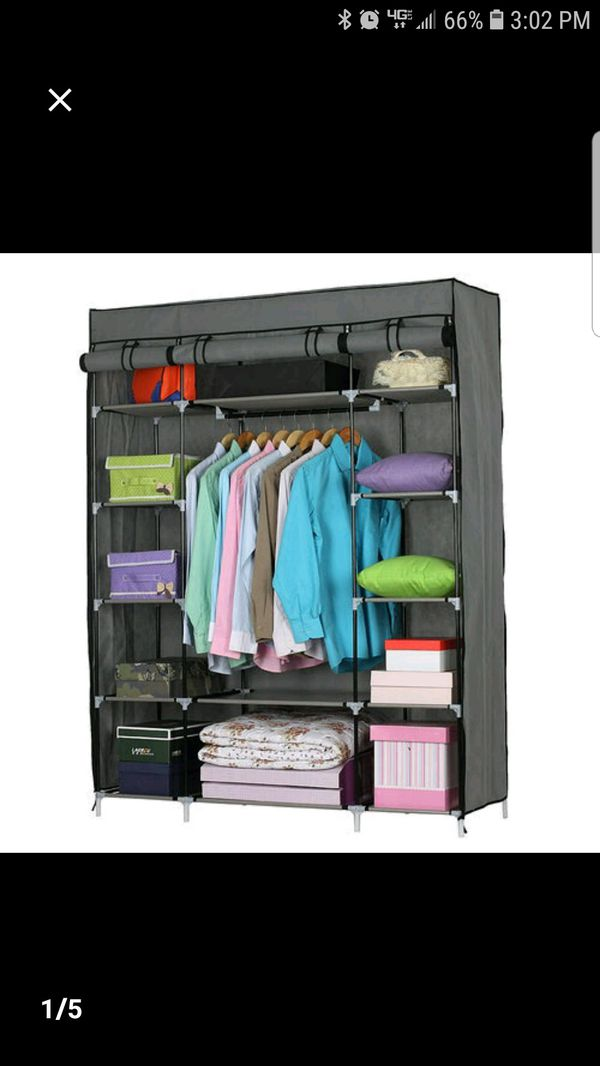 "53"" Portable Ckoset storage organizer"