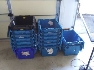 Storage containers stackable etc for Sale in Woodbury, NJ