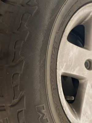 2008 jeep wrangler wheels and tires WITH SPARE TIRE INCLUDED for Sale in Denver, CO