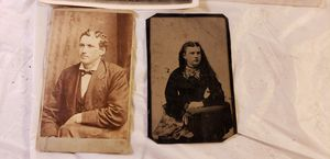 Antique Photos- the one looks to be tin plated back or daguerreotype for Sale in Sheffield, OH