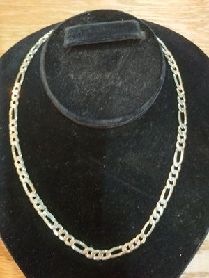""".925 Silver Figaro 26"""" Chain Necklace for Sale in Indianapolis, IN"""