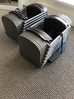 Dumbbells 50lb adjustable for Sale in Hayward, CA