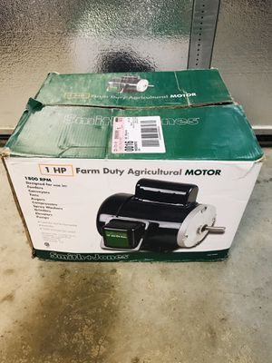 1 HP Agricultural Farm Duty Electric Motor for Sale in Turlock, CA