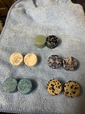 (4) Nice sets of Ceramic/Rock Gauges, HALF Inch, with 2 extra single gauges for Sale in Phoenix, AZ
