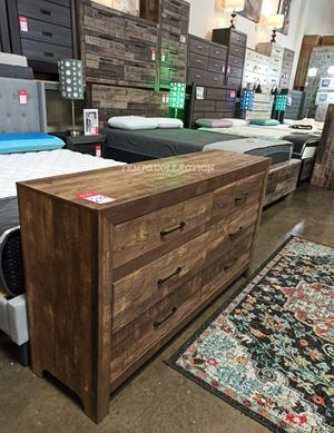 RUSTIC BROWN FINISH, 6 DRAWERS DRESSER, SKU#1534-DRESSER. for Sale in Fountain Valley, CA