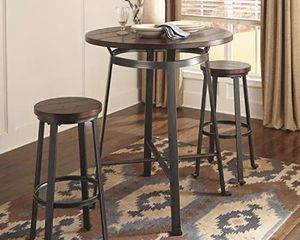 Signature Design by Ashley 3 piece round table for Sale in Plano, TX